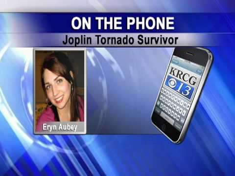 Eryn Aubey recounts Joplin tornado and reacts to Oklahoma storm