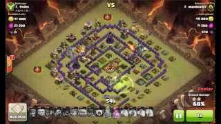 getlinkyoutube.com-GoGiWiWi TH10 with 1 Freeze spell - Clash of Clans - Clan War 3-Star Strategy