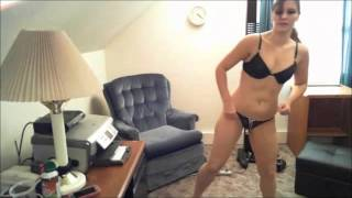 getlinkyoutube.com-Sexy College Girl - Stretching, Warm Up and Strip