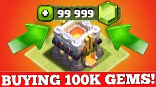 getlinkyoutube.com-Clash Of Clans : BUYING 100,000 GEMS ($600+)!!!! JOURNEY TO TOWN HALL 11!