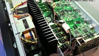 """Onkyo Amp update, Quick """"no sound fix"""""""