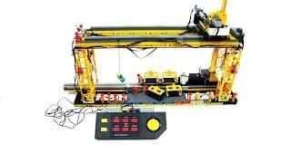 Lego Monorail Cargo Terminal with a Technic Control Center