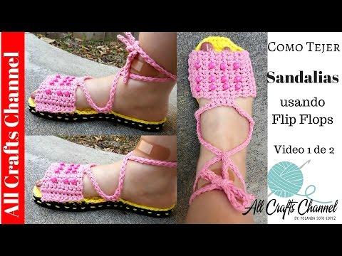 Tejiendo Sandalias en crochet  ( VIdeo 1 de 2)