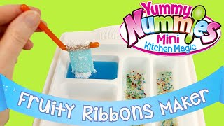 getlinkyoutube.com-Yummy Nummies Fruity Ribbons Maker - DIY Kids Cooking - Make Your Own Candy!