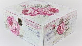 getlinkyoutube.com-How to make a decoupage box - Easy Tutorial - DIY