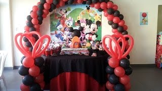 getlinkyoutube.com-Decoracion cumpleaños Mickey Mouse