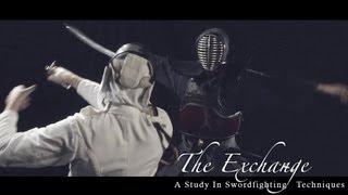 getlinkyoutube.com-Samurai vs. Fencing Sparring Swordfight. The Exchange- Smashbox Studios