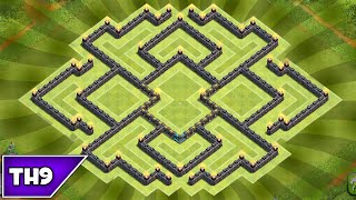 getlinkyoutube.com-Clash of Clans - BEST TOWNHALL 9 FARMING BASE AIR SWEEPER (updated) - 2015