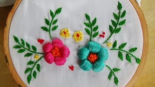 getlinkyoutube.com-Hand Embroidery: Puffed Satin Stitch