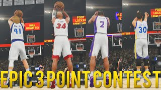 getlinkyoutube.com-NBA 2K16 - EPIC 3 Point Contest feat. Steph Curry, Ray Allen, Dirk, Joe Johnson & More!! HD