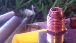 getlinkyoutube.com-Piston Valve Air Gun - How to make sealing face - Soldering Tutorial