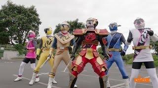 Power Rangers Super Ninja Steel - First Morph and Fight   Episode 1
