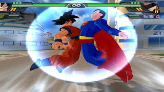 getlinkyoutube.com-Goku and Superman Fusion | Gok-El vs Great Saiyaman  DBZ Budokai Tenkaichi 3 (MOD)