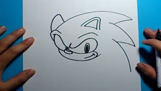 getlinkyoutube.com-Como dibujar a Sonic paso a paso - Sonic | How to draw Sonic - Sonic