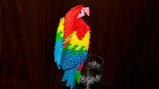 getlinkyoutube.com-3D origami macaw parrot tutorial (instruction)