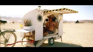getlinkyoutube.com-Bicycle camper trailer for Burningman