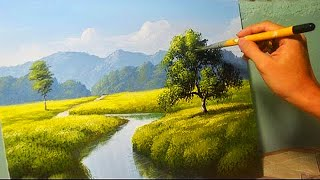 getlinkyoutube.com-Acrylic Landscape Painting Lesson - The River by JM Lisondra