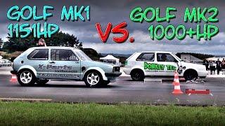 getlinkyoutube.com-16Vampir Golf Mk1 1151HP vs Golf Mk2 1000HP (new record 8,56s @ 278kmh)