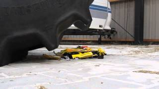 getlinkyoutube.com-toycar crushed under tractor