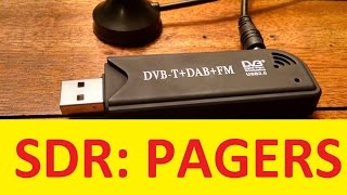 SDR Dongle Decoding Pager traffic