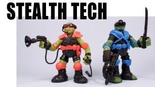 getlinkyoutube.com-Stealth Tech Teenage Mutant Ninja Turtles Zip Line Attack
