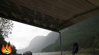 getlinkyoutube.com-Nature Sounds: Rain on a Tarp Tent Roof