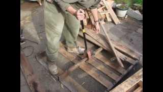 getlinkyoutube.com-My DIY pallet breaker in action + some tips to make your own.
