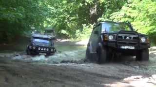 getlinkyoutube.com-4X4 Zachodniopomorski offroad Nissan Patrol GR Y60 Off Road Poligon Drawski