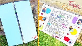 getlinkyoutube.com-Tarjeta gigante para novio ♥ tutorial - Mariana lugo