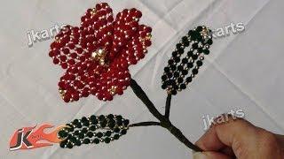 getlinkyoutube.com-DIY How to make Velvet Beads Flower JK Arts 206