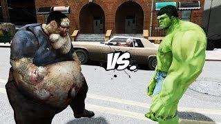 THE INCREDIBLE HULK VS BOOMER (Left 4 Dead) - GREAT BATTLE - GTA IV
