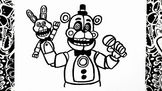 como dibujar a funtime freddy | how to draw funtime freddy | five nights at freddy's sister location