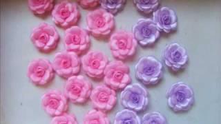 getlinkyoutube.com-flores fita tecido e pedraria