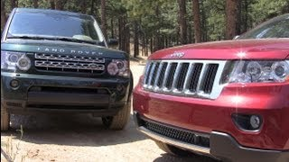 getlinkyoutube.com-2012 Land Rover LR4 vs Jeep Grand Cherokee Off-Road Mashup Review