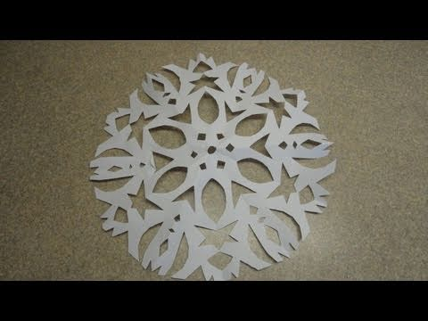 Six Pointed Cutout Paper Snowflake