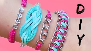 getlinkyoutube.com-DIY Friendship Bracelets!! 4 Easy Stackable Arm Candy projects!