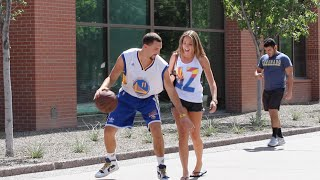 getlinkyoutube.com-Klay Thompson Plays Basketball with Strangers!!