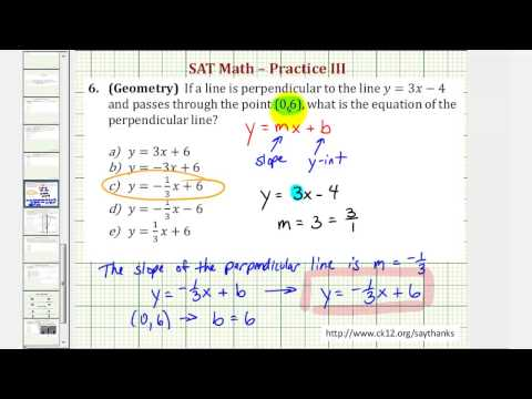 SAT Math (Geometry) - Practice 3.6