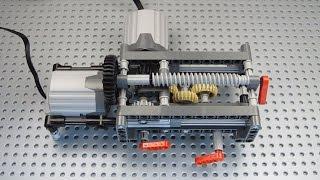 getlinkyoutube.com-Lego 4 Speed Linear Gearbox, 2 Outputs