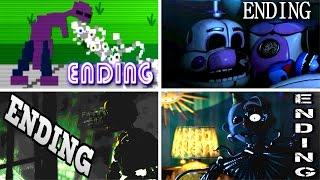 getlinkyoutube.com-Five Nights at Freddy's: Sister Location ALL ENDINGS