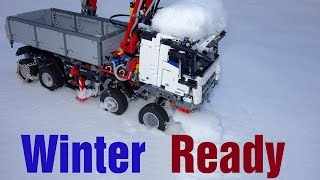 getlinkyoutube.com-Winter Ready Lego Technic 42043 Mercedes-Benz Arocs 3245 MOD#7