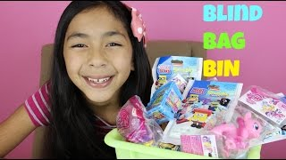 getlinkyoutube.com-Monday Blind Bag Bin My Little Pony,Shopkins,Sponge Bob, Angry Birds, Mi World DQ