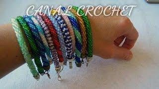 getlinkyoutube.com-pulsera a crochet con abalorios