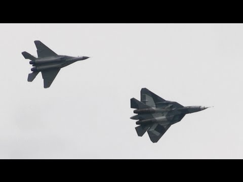 PAK-FA / T-50 Russian air force centenary Airshow 2012