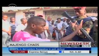 Tension in Mombasa's Majengo area following the killing of a 24 year old man.