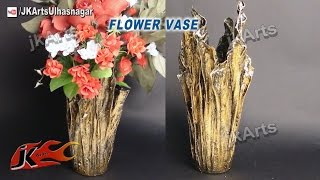 getlinkyoutube.com-DIY Up-Drip Flower Vase from waste cloth | How to Make | JK Arts 491