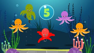 getlinkyoutube.com-Five Little Octopus | Nursery Rhymes for Kids