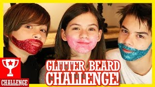 getlinkyoutube.com-GLITTER BEARD CHALLENGE!  |  KITTIESMAMA