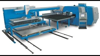 getlinkyoutube.com-Prima Power Shear Genius SGe - Turret Punch Press & Shearing