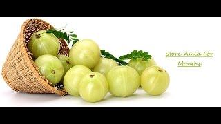 How To Preserve Amla For Months | Store Amla | Frozen Amla .